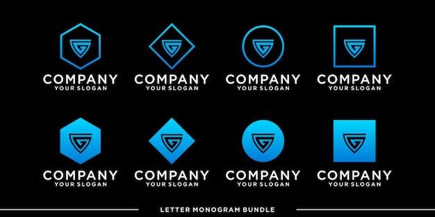 Impostare il modello di progettazione del logo g monogramma