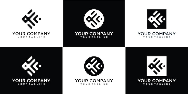 Impostare il logo della lettera k monogramma