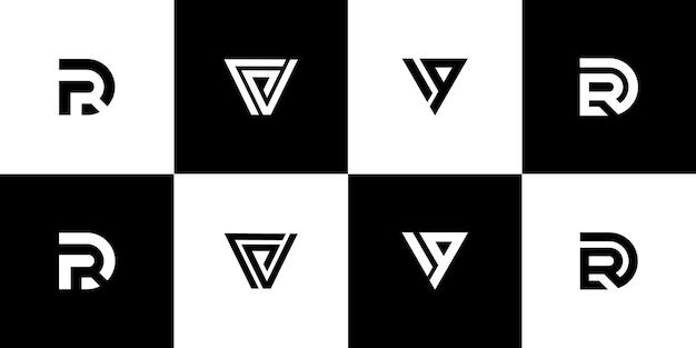 Set di monogramma logo design