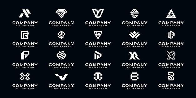 Set di monogramma logo