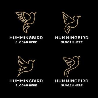 Impostare il design del logo del colibrì monoline