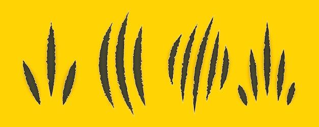 Set di mostro artigli graffi illustrazione