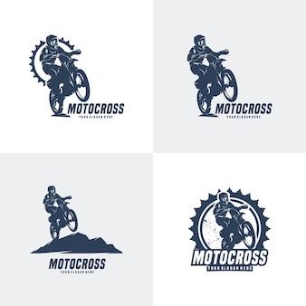 Set di design del logo motocross
