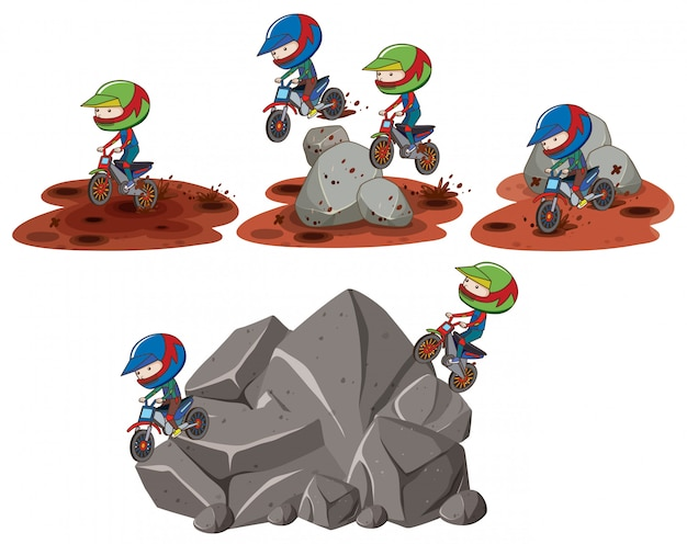 Set di scene di motocross