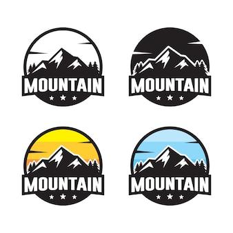 Set di modello logo di montagna