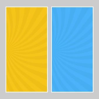 Set di striscioni pop art multicolori. modello comico mezzitoni con posto per il testo per il design. illustrazione vettoriale