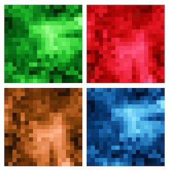 Un insieme di sfondo multicolore poligono multi mosaico