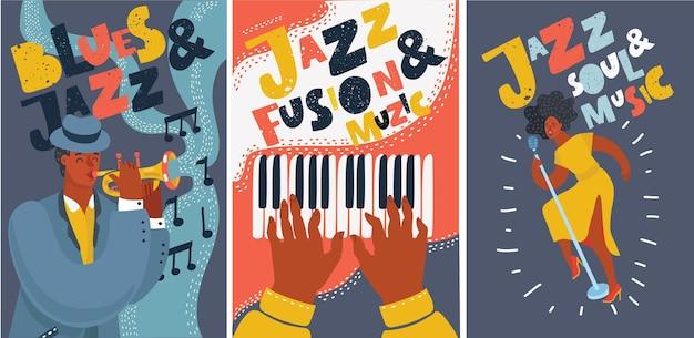 Set di carte musicali e striscioni