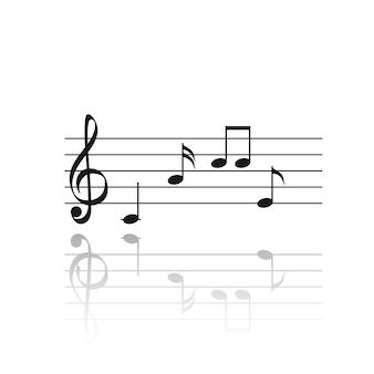 Impostare i simboli delle note musicali. composizione musicale.