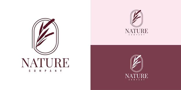 Imposta la progettazione del modello dell'illustrazione del logo dell'azienda della natura