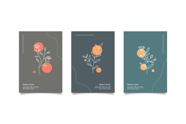 Set di copertine naturali disegnate a mano