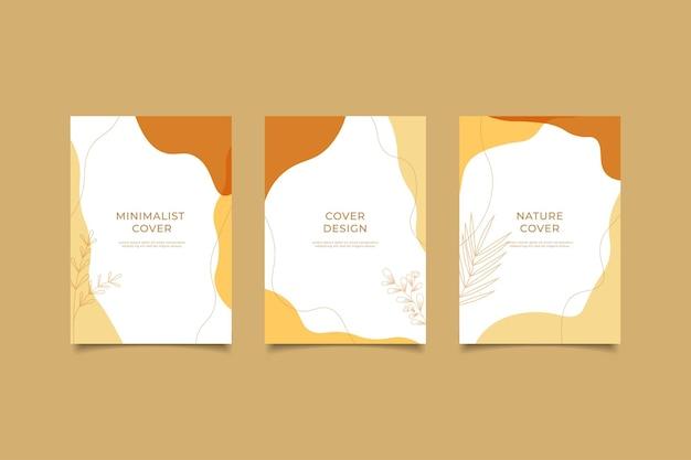 Set di modelli di copertina della natura