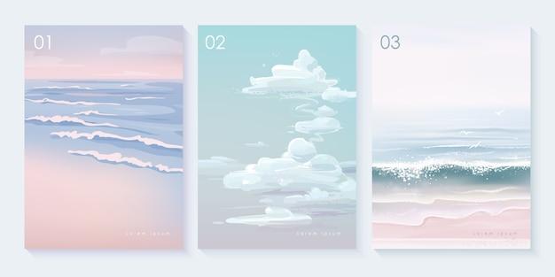 Set di sfondo del paesaggio naturale
