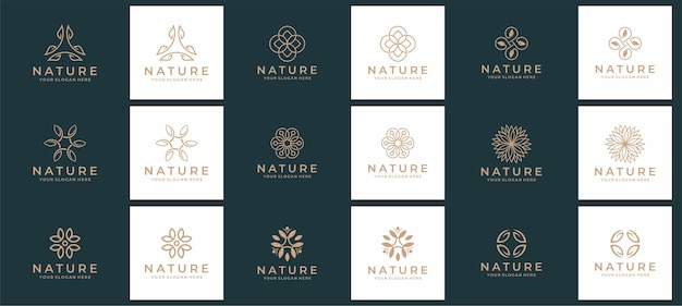 Set di natura e logo spa