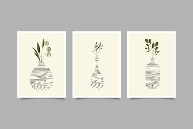 Set di decorazioni per l'arte della parete della natura
