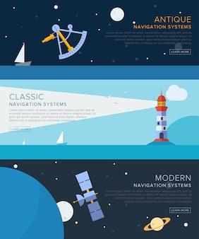Set di modello di banner di navigazione