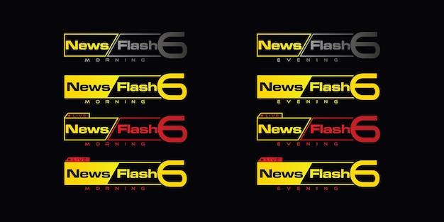 Set di logo di notizie, ispirazione per il logo