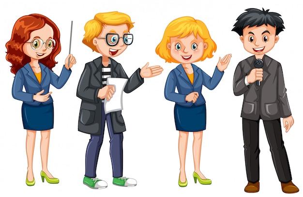 Set di giornalista