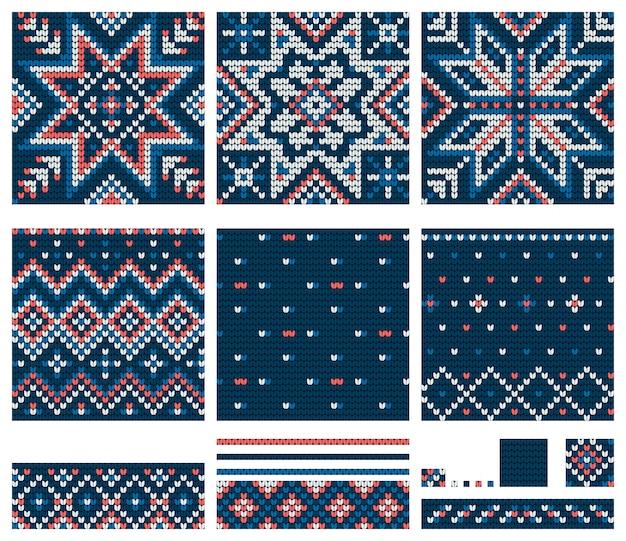 Set di modelli per maglieria stella norvegese