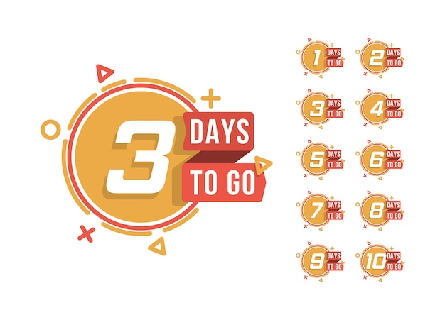 Set di numero di giorni per il conto alla rovescia. mancano i giorni del conto alla rovescia