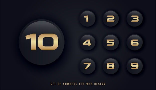 Set di numeri per il web design