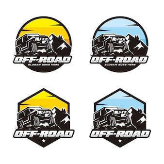 Set di modello logo off road