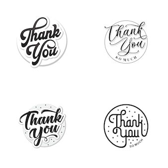 Set di lettere di ringraziamento vctor