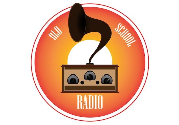Set di vecchia linea temporale del transistor radio vintage in stile piatto vettoriale eps