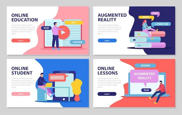 Set di modello di banner web di formazione online