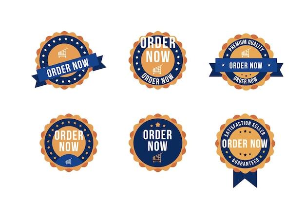 Set di order now adesivo
