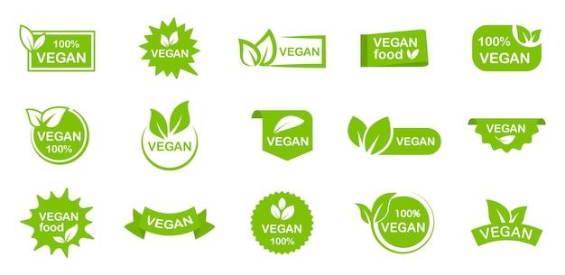 Set di etichette per alimenti biologici eco vegani biologici
