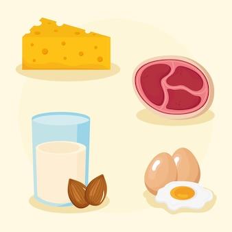 Set di ingredienti biologici