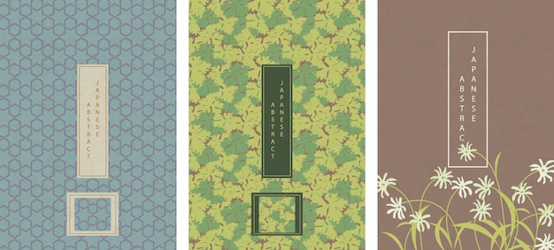 Set di modello astratto giapponese orientale