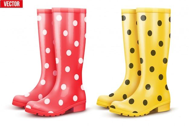 Set di stivali da pioggia da coppia