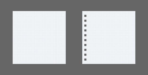 Set di fogli di carta, pagina di carta realistica