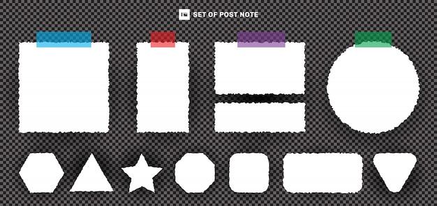 Set di carta strappato con nastro adesivo
