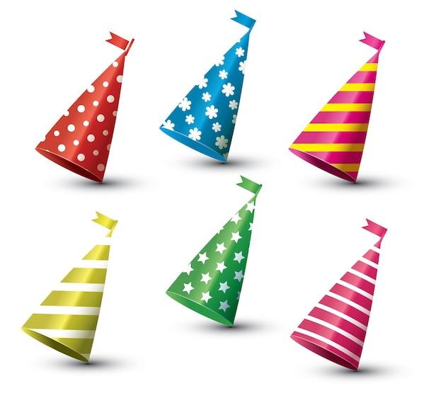 Set di cappello da festa isolato su bianco