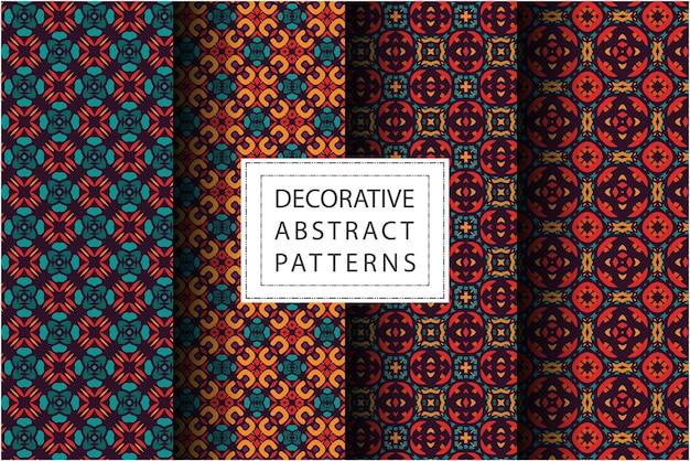 Set di pattern in stile etnico