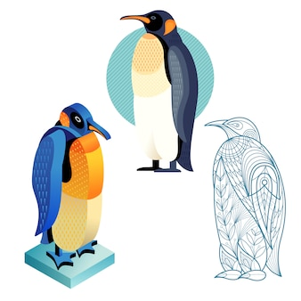 Imposta l'immagine del pinguino in diversi stili.