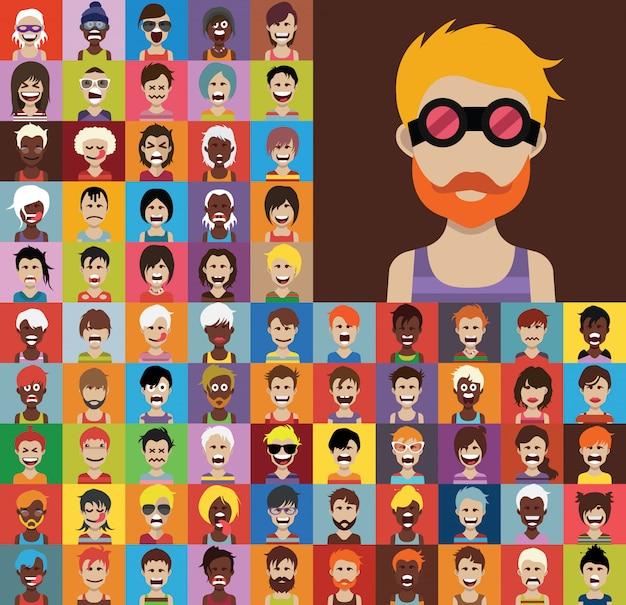 Set di icone di persone
