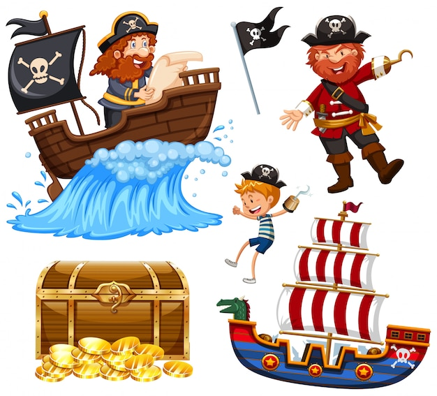 Un set di vettore pirata