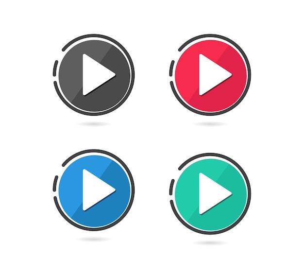 Set di pulsanti di riproduzione