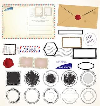 Set di simboli timbro postale