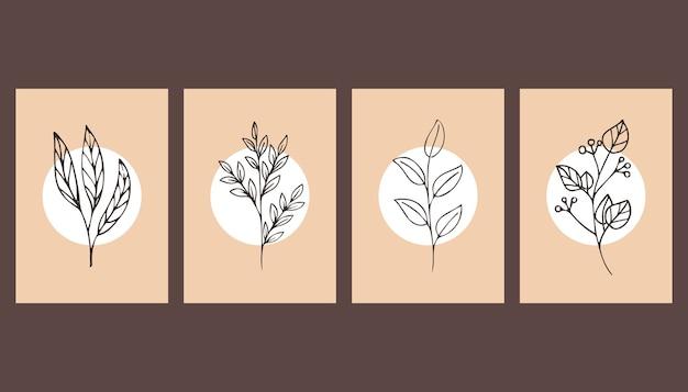 Set di poster. belle piante.