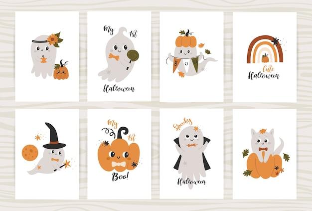 Set di poster con simpatici fantasmi.