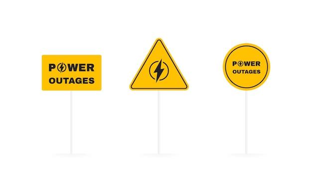 Imposta la scheda geometrica delle interruzioni di corrente.