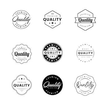 Set di raccolta di etichette badge di qualità premium