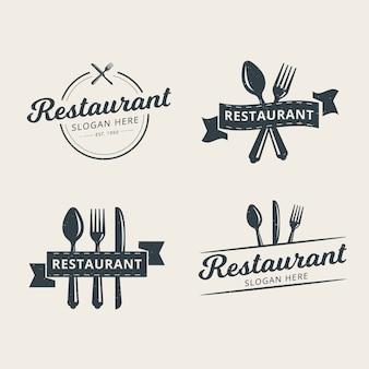Set di modello logo ristorante professionale