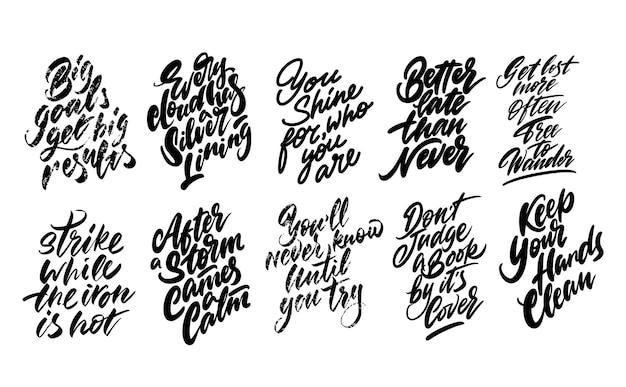 Set di proverbi per la stampa.