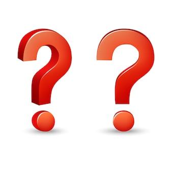 Impostare il simbolo della domanda in rosso su sfondo bianco.
